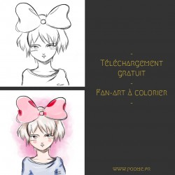 Fan-art à colorier « Kiki »