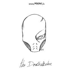 exemple du Téléchargement gratuit du coloriage Deathstroke