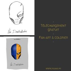Téléchargement gratuit du coloriage Deathstroke