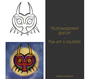 Fan-art à colorier « Majora's Mask»