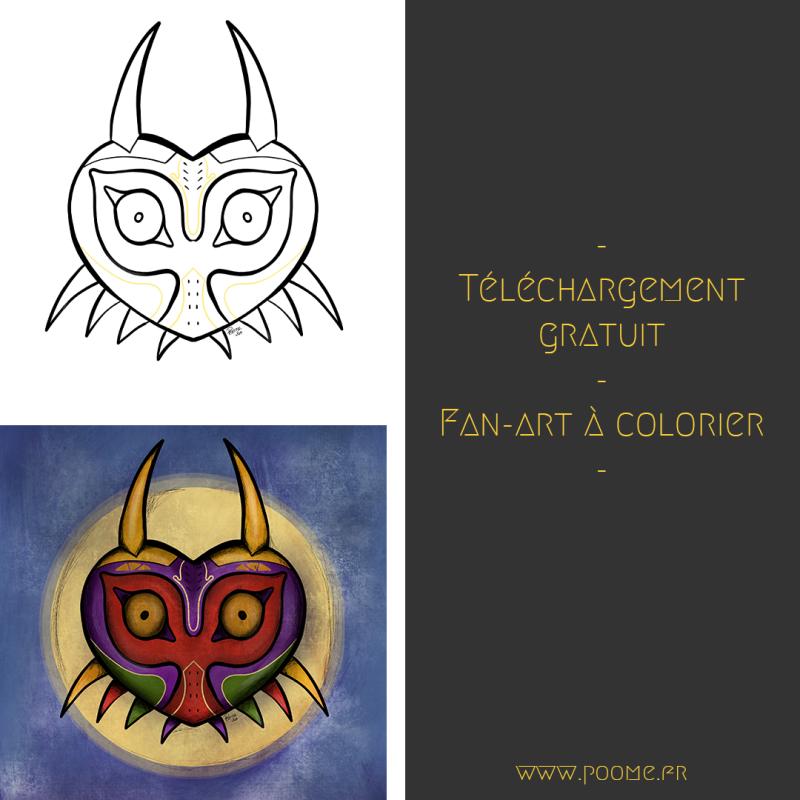 Fan-art à colorier « Majora's Mask»