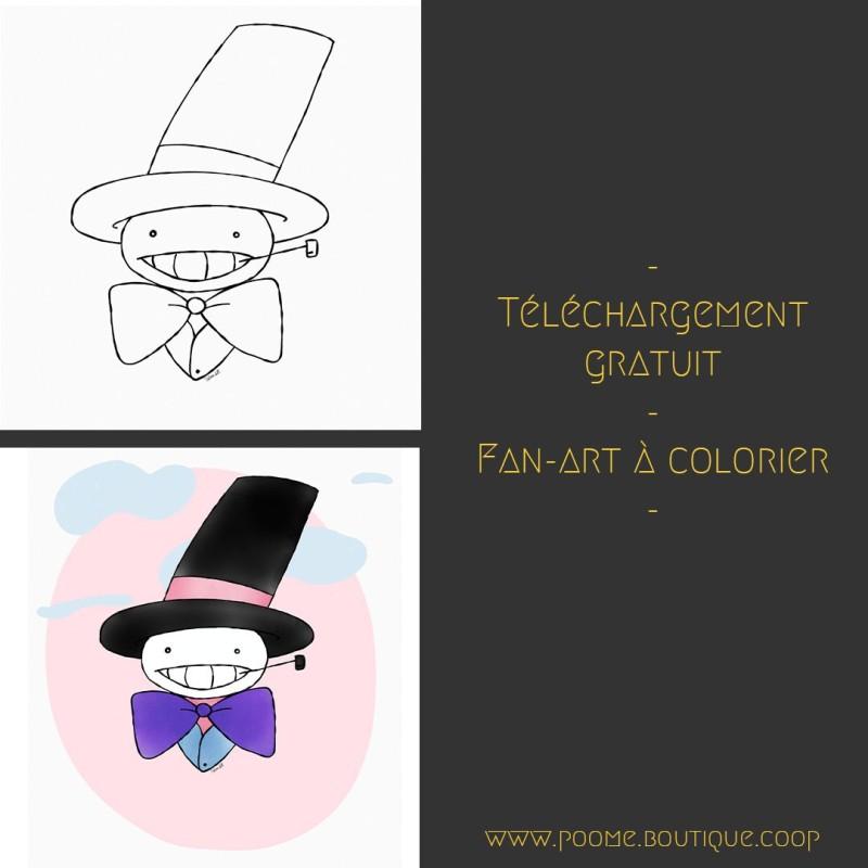 Fan-art à colorier « Navet » by Poome